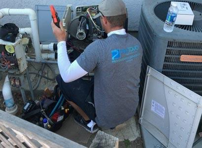 Diagnosing a pool heater repair in Poway