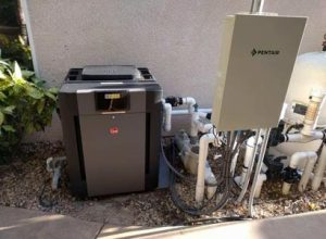 Upgrading the pool heater in Fairbanks Ranch to a Raypak 406a