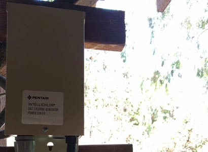 New Pentair Intellichlor IC40 power center installed in La Jolla