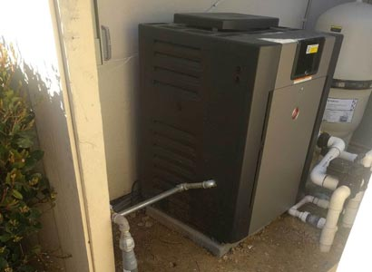 Raypak pool heater upgrade in Rancho Santa Fe, CA