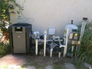 New Raypak pool heater installed in Encinitas
